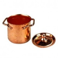 § Sale .60¢ Off - Cooper Stock Pan with Lid - Product Image