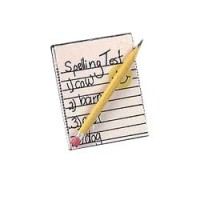 (*) Dollhouse School Spelling Test & Pencil - Product Image