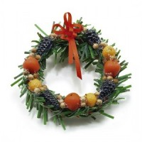 (*) Dollhouse Christmas Della Robia Wreath - Product Image