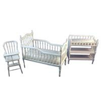 Dollhouse White Victorian Nursery Set - Product Image