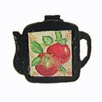 (*) Dollhouse Teapot Shaped Trivet- Choice of Color - - Product Image