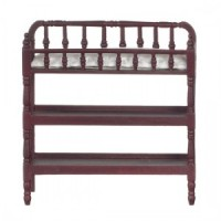 Dollhouse Mahogany Victorian Changing Table - Product Image