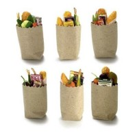 Dollhouse Miniatures Filled Grocery Bag - Product Image