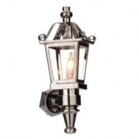 - New - Dollhouse Nickel Lantern Coach Light - Product Image
