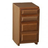 "(**) Dollhouse 1½"" Drawer Base Cabinet - Product Image"