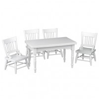 5 pc Table & Chair Set- Choice of Finish - - Product Image