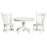 Dollhouse 3 pc White Table Set - Product Image