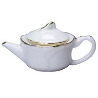Tea Pot with Gold Trim - Product Image