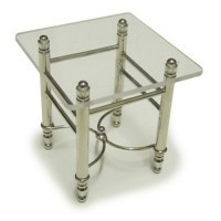(**) Dollhouse Chrome Lamp Table - Product Image
