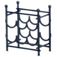 (**) Dollhouse Black Wine Rack - Product Image