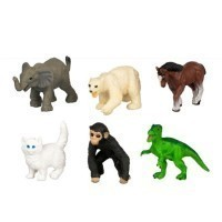 (**) Dollhouse Toy Dolls & Animals- 40 Assorted Styles - - Product Image