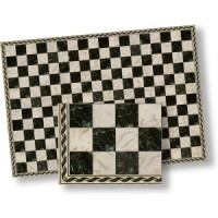 "Dollhouse ""FAUX"" Marble Floor w/ Border- Choice of Color - - Product Image"