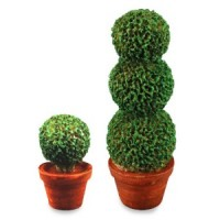 2 pc Dollhouse Topiary Set - Product Image