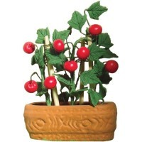 (*) Dollhouse Tomato Plant in Pot - Product Image