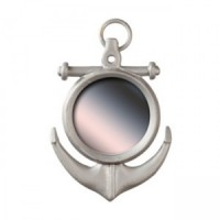 (*) Dollhouse Silver Anchor Mirror - Product Image