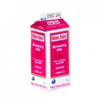 Dollhouse Strawberry Milk Carton - Product Image