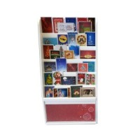 ( ) Dollhouse Christmas Card Display Stand - Wide - Product Image