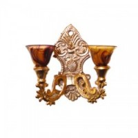 Dollhouse Non Working Double Sconce - Product Image