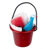 Soap Bucket with Scrub Brush, Cleaner & Sponge - Product Image