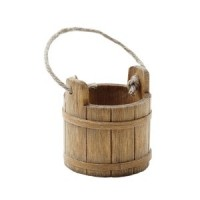 Dollhouse Wooden Cleaning Bucket - Product Image
