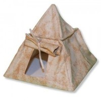 Dollhouse Miniature Tent, Tan or Green - Product Image
