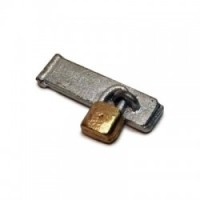 (§) Sale .60¢ Off - Dollhouse Padlock with Hasp - Product Image