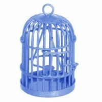 Dollhouse Assorted Colored Bird Cage - Product Image