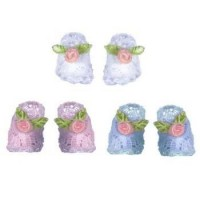 Dollhouse Baby Booties - Product Image