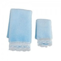 Dollhouse 2 pc Towel Set - Blue - Product Image