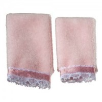 Dollhouse 2 pc Towel Set - Pink - Product Image