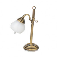 Dollhouse Antique Gold Globe Table Lamp - Product Image