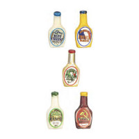 Dollhouse Bottle of Salad Dressing 1- Choice of Style - - Product Image