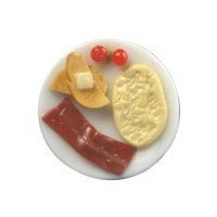 Dollhouse Breakfast Omelette with Bacon - Product Image