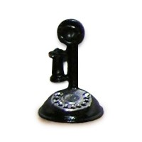 (**) Dollhouse Candlestick Phone with Dial - Product Image