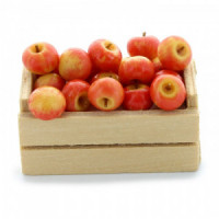 (**) Dollhouse Crate of loose Apples (Filled) - Product Image