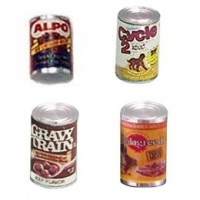 Dollhouse Dog Food Can(s)- Choice of Styles - - Product Image