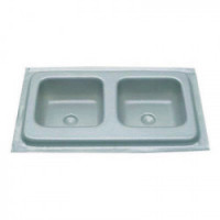 Dollhouse Double Kitchen/Bar Sink - Silver - Product Image