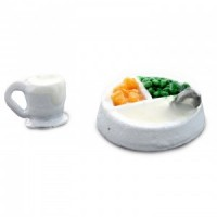 Dollhouse Filled Baby Food Bowl & Cup - Product Image