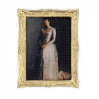 Dollhouse Framed Lady's Portrait - Product Image