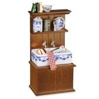 Dollhouse Kitchen Cabinet with Sink (Small) - Product Image