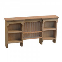 Dollhouse Kitchen Shaker Style Plate Rack- Choice of Finish - - Product Image