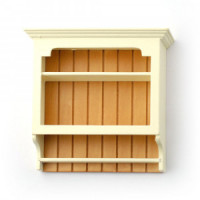 Dollhouse Kitchen Shaker Style Wall Shelf- Choice of Finish - - Product Image