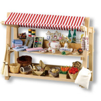 (*) Dollhouse Market Stand - Empty - Product Image