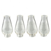 Dollhouse Miniature 4 pc Glass Chimney- Choice of Color - - Product Image