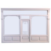 Dollhouse Shop Facade- Unfinished or White - - Product Image