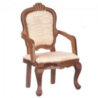 Dollhouse Walnut Upholstered Dining Chair(s) - Product Image
