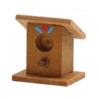 Dollhouse Wood Bird House - Product Image