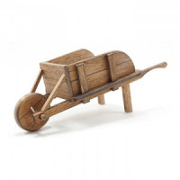Dollhouse Wood Wheelbarrow - Product Image