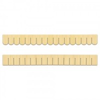 Dollhouse Wooden Shingle Strips- Choice of Style - - Product Image