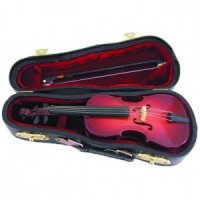 Miniature Dollhouse Cello with Case - Product Image